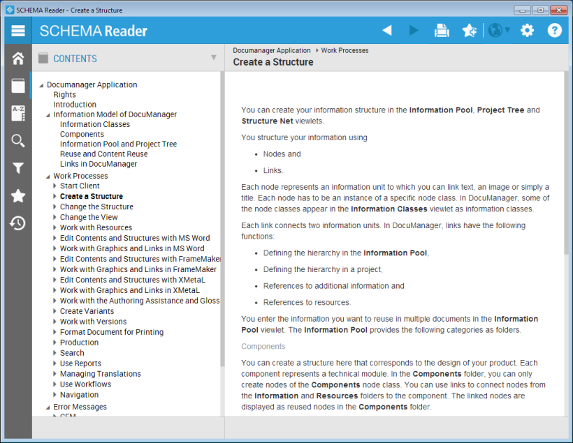 SCHEMA Reader Screenshot