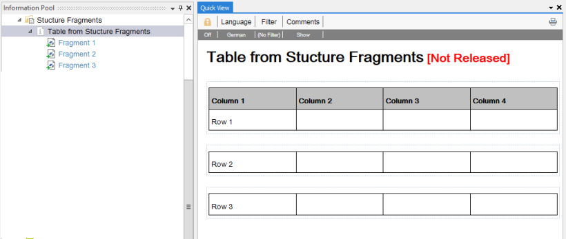 Table from Structure Fragments screenshot Vertieb